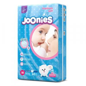 Подгузники Joonies M (6-11 кг) 60 шт.