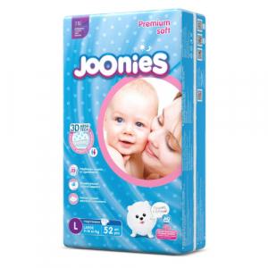 Подгузники Joonies L (9-14 кг) 52 шт.