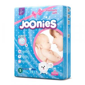 Подгузники Joonies S (3-7 кг) 72 шт.