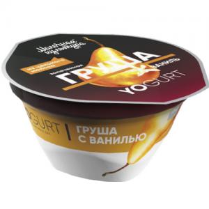 "Йогурт ""Молочная культура"" 150 г. YOGURT ГРУША запеченая & Ваниль 2,7-3,5%"