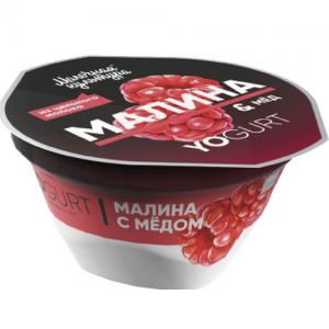 "Йогурт ""Молочная культура"" 150 г. YOGURT МАЛИНА & Мёд 2,7-3,5%"