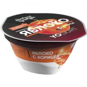 """Йогурт """"Молочная культура"""" 150 г. YOGURT ЯБЛОКО карамелизованное & Корица 2,7-3,5%"""