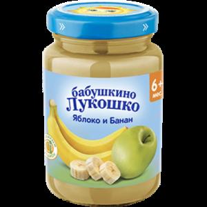 """""""Бабушкино лукошко"""" пюре Яблоко, Банан с 6 месяцев 190г"""