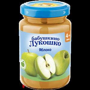 """""""Бабушкино лукошко"""" пюре Яблоко без сахара с 4 месяцев 190г"""