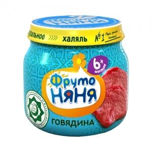 """пюре """"ФрутоНяНя"""" 80 г. из Говядины с 6 месяцев Халяль"""