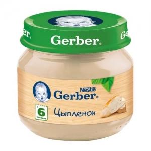 """""""Gerber"""" пюре Цыплёнок с 6 месяцев 80 г."""