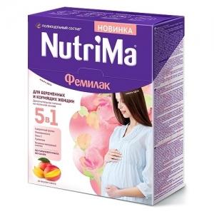 """ФЕМИЛАК """"NutriMa"""" со вкусом МАНГО  для Беременных и Кормящих женщин 350 г."""