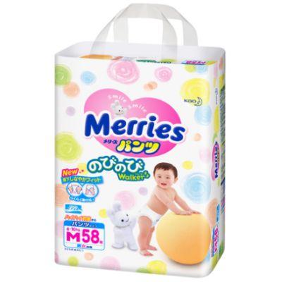 Трусики Merries M (6-10 кг) 58 шт.