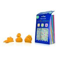 HEVEA Утёнок Рыбка Лягушонок- набор игрушек для ванной из натурального природного каучука