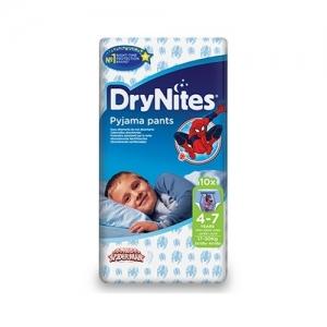 Трусики HUGGIES Dry Nites Pyjama Pants для мальчиков 4-7 лет (17-30 кг) 10 шт.