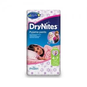 Трусики HUGGIES Dry Nites Pyjama Pants для девочек 4-7 лет (17-30 кг) 10 шт.