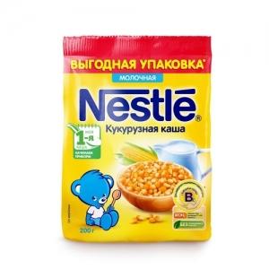 Nestle каша в Мягкой упаковке Молочная Кукурузная каша 200 г. с 5 месяцев