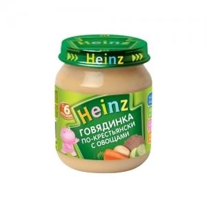"""""""Heinz"""" пюре Говядинка по-Крестьянски с 6 месяцев 120 г."""