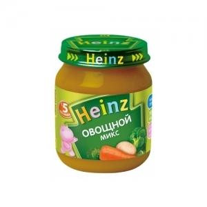 """""""Heinz"""" пюре Овощной микс с 5 месяцев 120 г."""