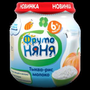 """""""ФрутоНяНя"""" Пюре 100 г. Тыква Рис Молоко с 6 месяцев"""