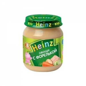 """""""Heinz"""" пюре Овощи с Форелькой с 8 месяцев 120 г."""