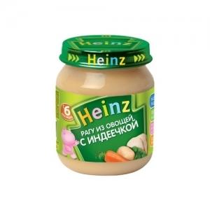 """""""Heinz"""" пюре Рагу из Овощей с Индеечкой с 8 месяцев 120 г."""