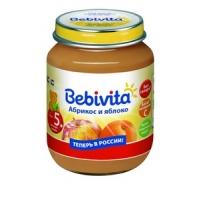 """""""Bebivita"""" пюре Абрикос и Яблоко с 5 месяцев 100 г."""