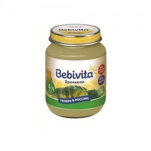 """""""Bebivita"""" пюре Брокколи с 4,5 месяцев 100 г."""