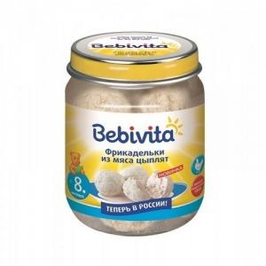 """""""Bebivita"""" пюре Фрикадельки из мяса Цыплят с 8 месяцев 125 г."""
