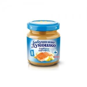 """Бабушкино лукошко"" пюре 100 г. Горбуша, Картофель с 8 месяцев"
