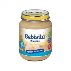 """""""Bebivita"""" пюре Индейка c 6 месяцев 100 г."""