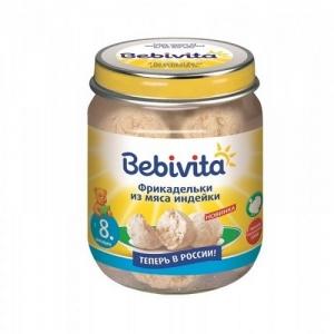 """""""Bebivita"""" пюре Фрикадельки из мяса Индейки с 8 месяцев 125 г."""