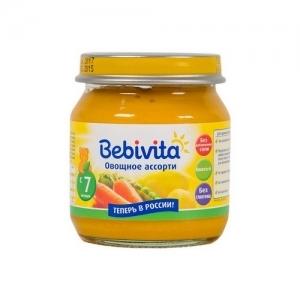 """""""Bebivita"""" пюре Овощное ассорти с 7 месяцев 100 г."""