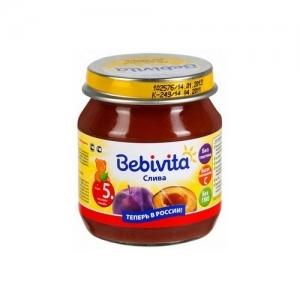 """""""Bebivita"""" пюре Слива с 5 месяцев 100 г."""