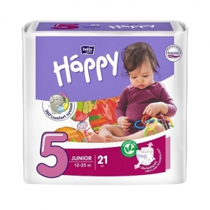 Подгузники Happy Junior 5 (12-25 кг) 21 шт