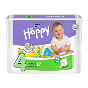 Подгузники Happi Maxi 4 (8-18 кг) 27 шт