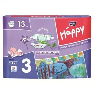 Подгузники Happi Midi 3 (5-9кг) 13 шт