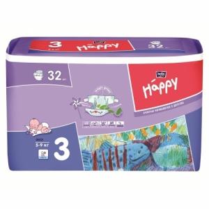 Подгузники Happi Midi 3 (5-9кг) 32 шт