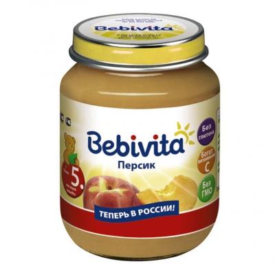 """""""Bebivita"""" пюре Персик с 5 месяцев 100 г."""