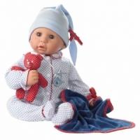 1161034 Gotz Кукла малыш Cookie c медвежонком в горох