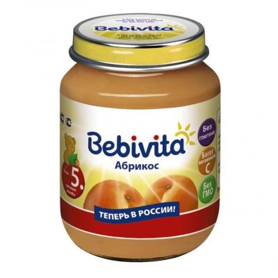 """Bebivita"" пюре Абрикос с 5 месяцев 100 г."