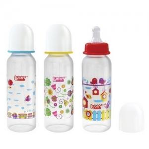 """LUBBY Бутылочка для кормления с соской """"Малыши и малышки"""" 250 мл. 12022"""