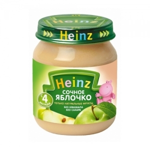 """Heinz"" пюре  Яблочко с 4 месяцев 120 г."