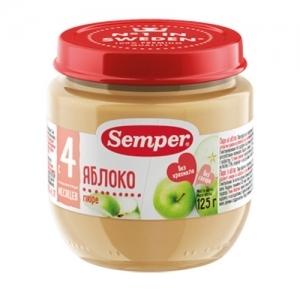 """""""Semper"""" 125 г. пюре Яблоко с 4 месяцев"""