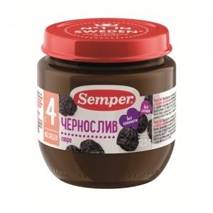"""""""Semper"""" 125 г. пюре Чернослив с 4 месяцев"""