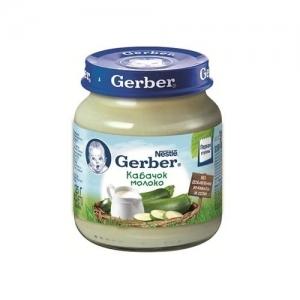 """""""Gerber"""" пюре Кабачок с молоком с 5 месяцев 125 г."""