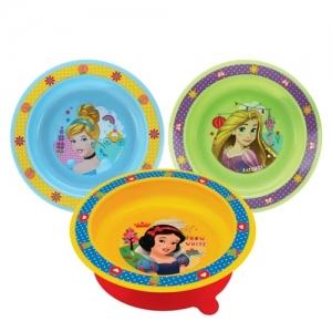 """14380 Disney Baby  Тарелочка """"Принцессы"""" на присоске  6+мес"""