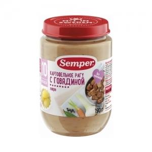 """""""Semper"""" 190 г. пюре Картофельное рагу с Говядиной с 10 месяцев"""
