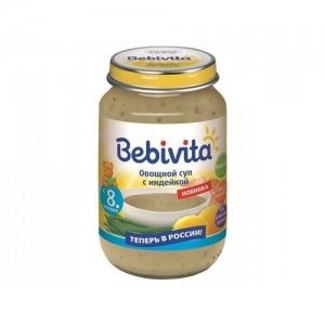 """""""Bebivita"""" суп Овощной суп с Индейкой 190 г."""