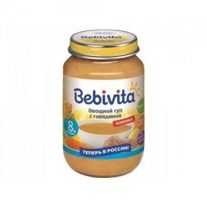 """""""Bebivita"""" суп Овощной суп с Говядиной 190 г."""