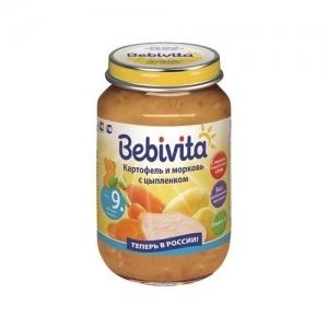 """""""Bebivita"""" пюре Картофель и Морковь с Цыплёнком с 9 месяцев 190 г."""