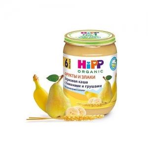 """""""HiPP"""" Зерновая каша с бананами и грушей с 6 месяцев 190 г."""