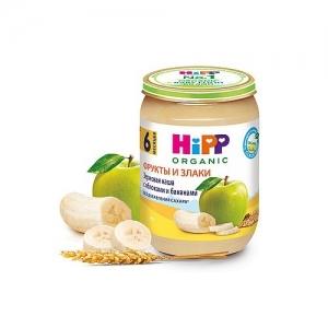 """""""HiPP"""" Зерновая каша с Яблоками и Бананами БИО без добавления сахара с 8 месяцев 190 г."""