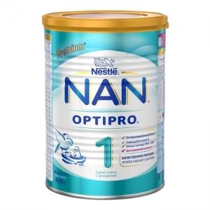 """""""NAN 1"""" Сухая молочная смесь с рождения. 400 г."""