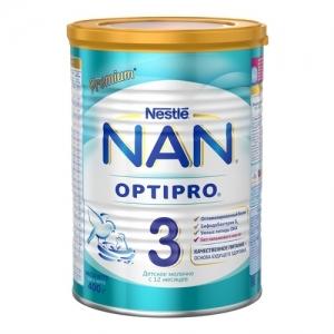 """NAN 3"" Сухая молочная смесь с 10 месяцев. 400 г."